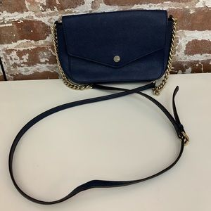 Michael Kors Navy Envelope Crossbody